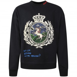 VERSACE JEANS COUTURE T-shirt bianca con strass dorati